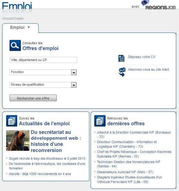 Présentation simplifiée pour un accès rapide aux offres d'emploi ! © Futura-Sciences