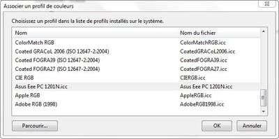 Les profils proposés par Windows 7 correspondent peu souvent aux écrans disponibles actuellement dans le commerce. Les réglages « Nuit » ou « Cinéma » de certains écrans influent directement sur les couleurs affichées. © Guénaël Pépin