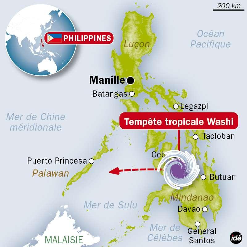 Washi est la 27e tempête tropicale qui sévit dans le Pacifique ouest cette année. © Idé