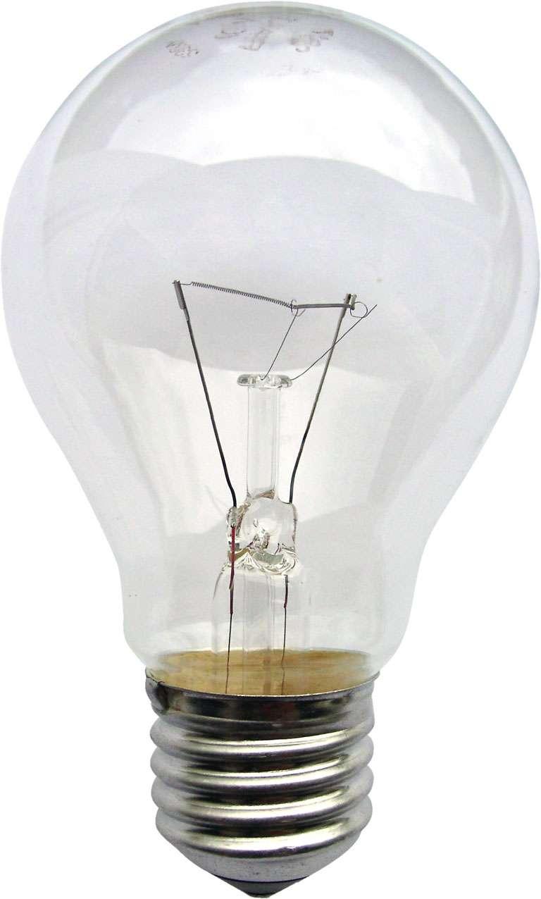 La lampe à incandescence au gaz a longtemps été le format standard des ampoules pour l'éclairage. © KMJ, CC BY-SA 3.0, Wikimedia Commons