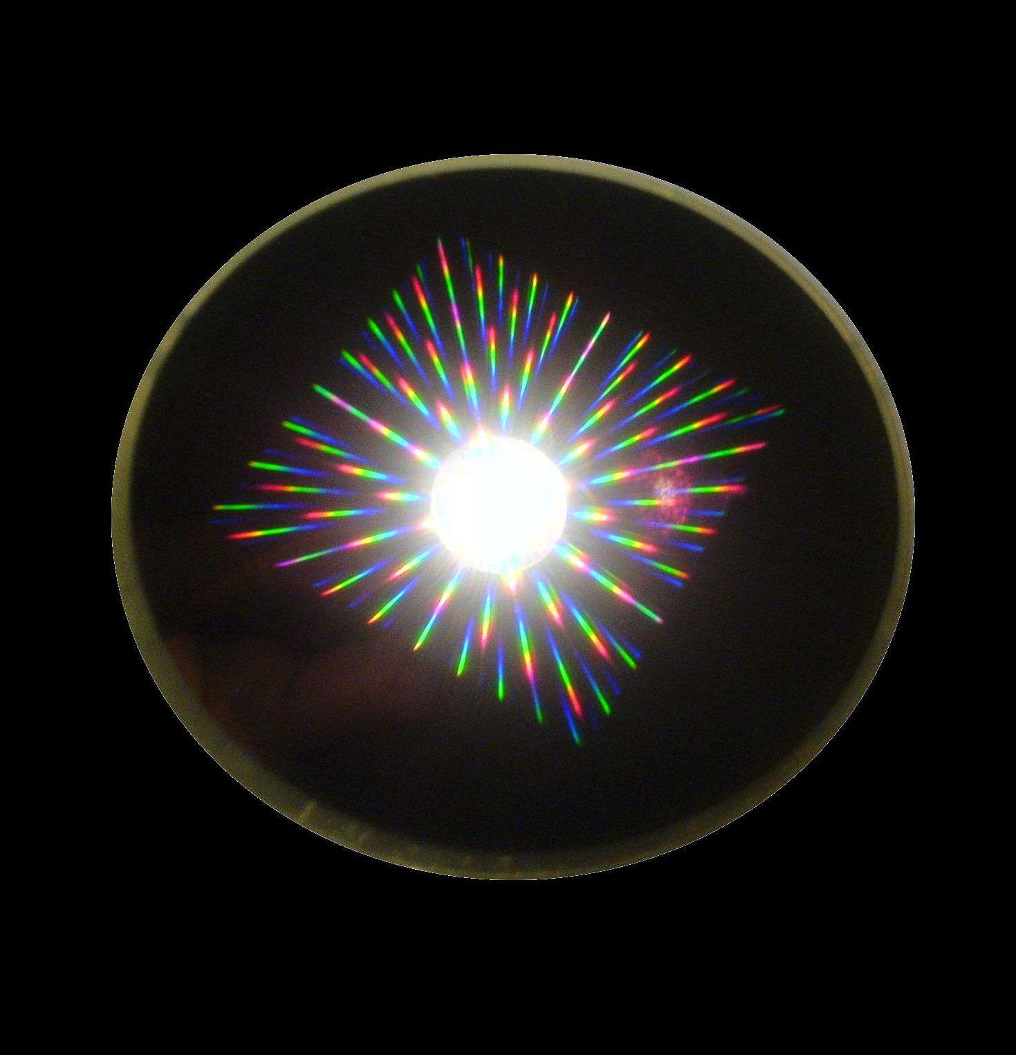 Un réseau de micro-aimants du NIST diffusent la lumière de façon bien spécifique comme le montre cette image. Crédit : G. Zabow, NIST/NIH