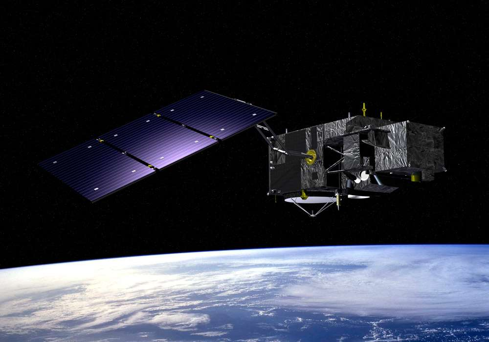 Vue d'artiste du satellite Sentinelle-3. Crédit Esa