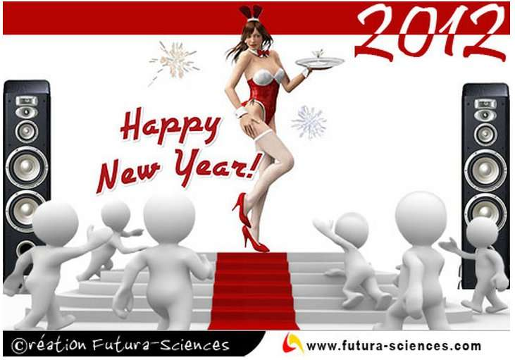 Bonne année à tous ! Et vous aussi vous pouvez le dire avec nos cartes de vœux 2012. © Futura-Sciences
