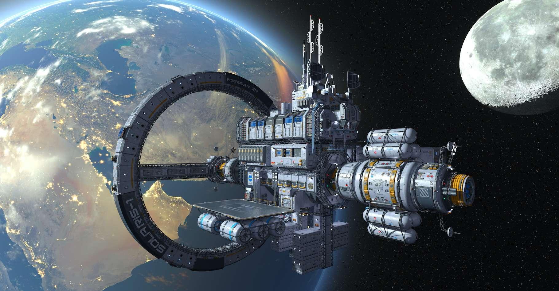 La US Space Force est destinée à conduire des opérations militaires dans l'espace. Cette nouvelle branche des forces armées américaines a désormais un logo… qui ressemble étrangement à celui de Starfleet, dans Star Trek. © tsuneomp, Adobe Stock