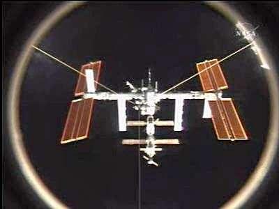 L'ISS vue depuis Atlantis après la séparation. Crédit NASA.
