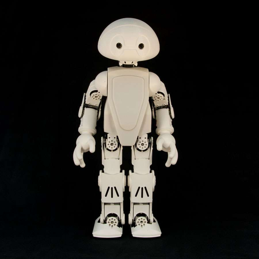 Avec le robot Jimmy, Intel espère démocratiser la robotique en publiant les fichiers nécessaires à sa fabrication sous licence open source. Pour cela, il faut disposer d'une imprimante 3D pour fabriquer les pièces... et acheter le kit Intel qui comprend les composants informatiques et électroniques ainsi que les éléments non imprimables. © Intel