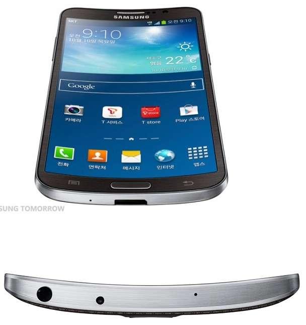 Avec le Galaxy Round, Samsung a opté pour un écran incurvé depuis les bords vers l'intérieur, censé faciliter la prise en main. © Samsung