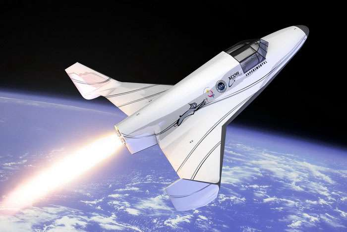 Avec le New Shepard de Blue Origin, le Lynx d'XCor est un des deux avions suborbitaux qui réussiront le pari d'envoyer des touristes à la frontière de l'espace. © XCor Aerospace