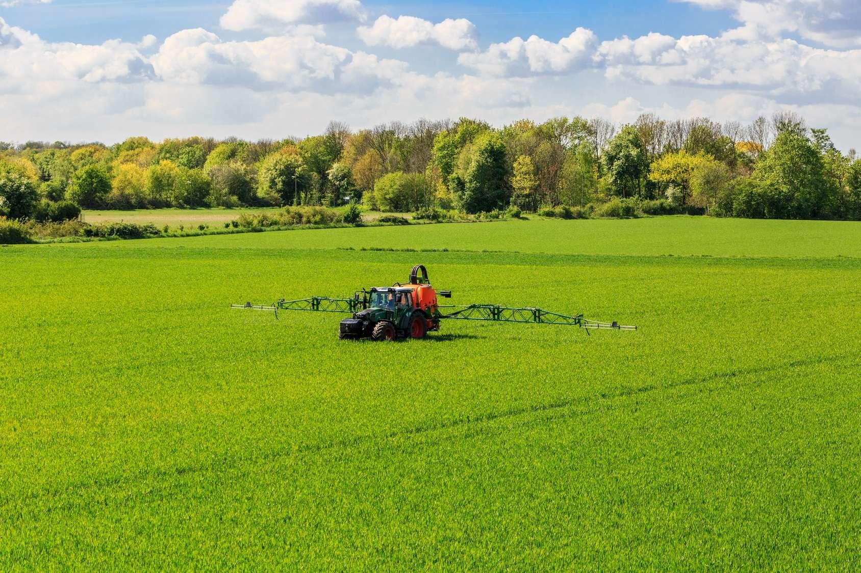 Le glyphosate est un herbicide massivement utilisé à travers le monde, notamment sous la marque Roundup commercialisée par Monsanto, filiale de Bayer depuis 2018. @ gerduess, Fotolia