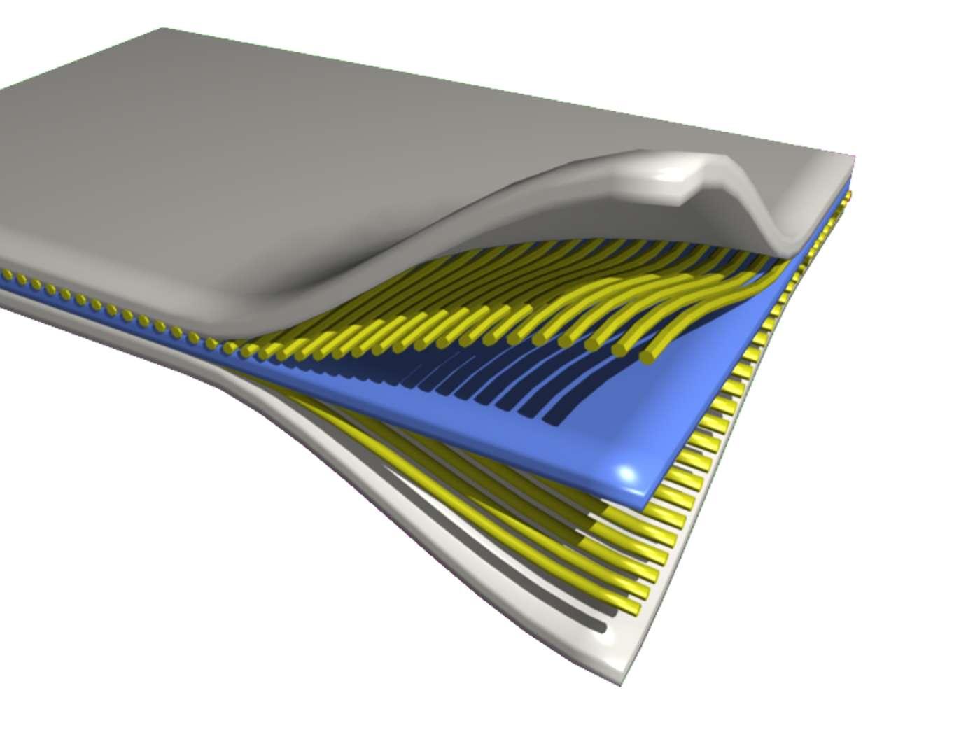 Les matériaux composites, dont on voit ici un exemple schématique, sont formés d'au moins deux composants dont les propriétés se complètent. Ils permettent notamment d'alléger certaines structures, comme celles des avions. Les nanocomposites pourraient bien leur succéder ; ils se présentent comme les matériaux du futur. © PerOX, Wikimedia Commons, DP