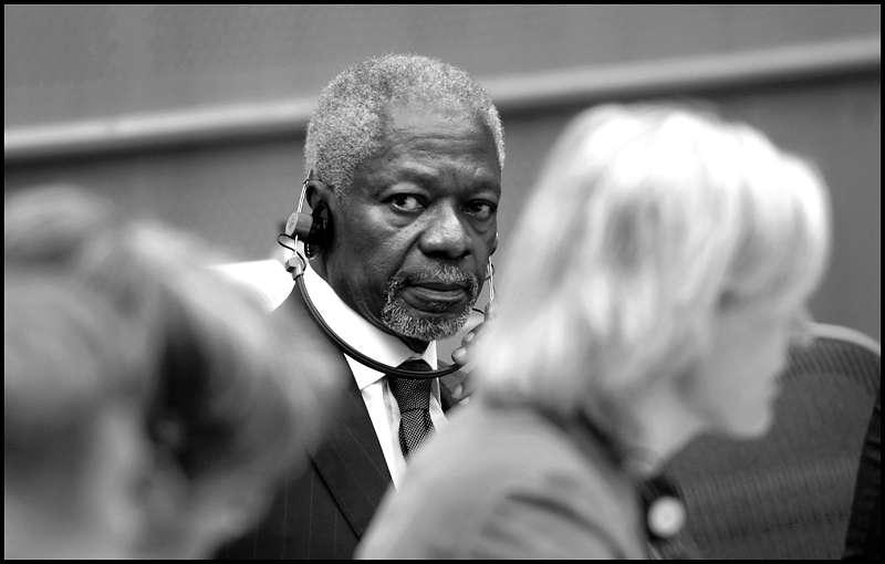 Kofi Annan a lancé une pétition d'un nouveau genre à l'occasion de la conférence de Copenhague. © European Parliament/Flickr Licence Creative Commons (by-nc-sa 2.0)