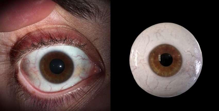 Disney Research a fait un grand pas dans le domaine de l'animation numérique avec sa technique de capture de l'œil humain. Son procédé parvient à reproduire la forme et la texture des différentes parties visibles de l'œil et même à reproduire la dilatation de la pupille. © Disney Research