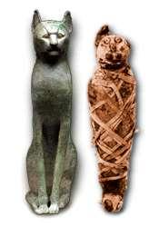 © www.upennmuseum.comUn chat qui part pour l'au-delà bien emmailloté !