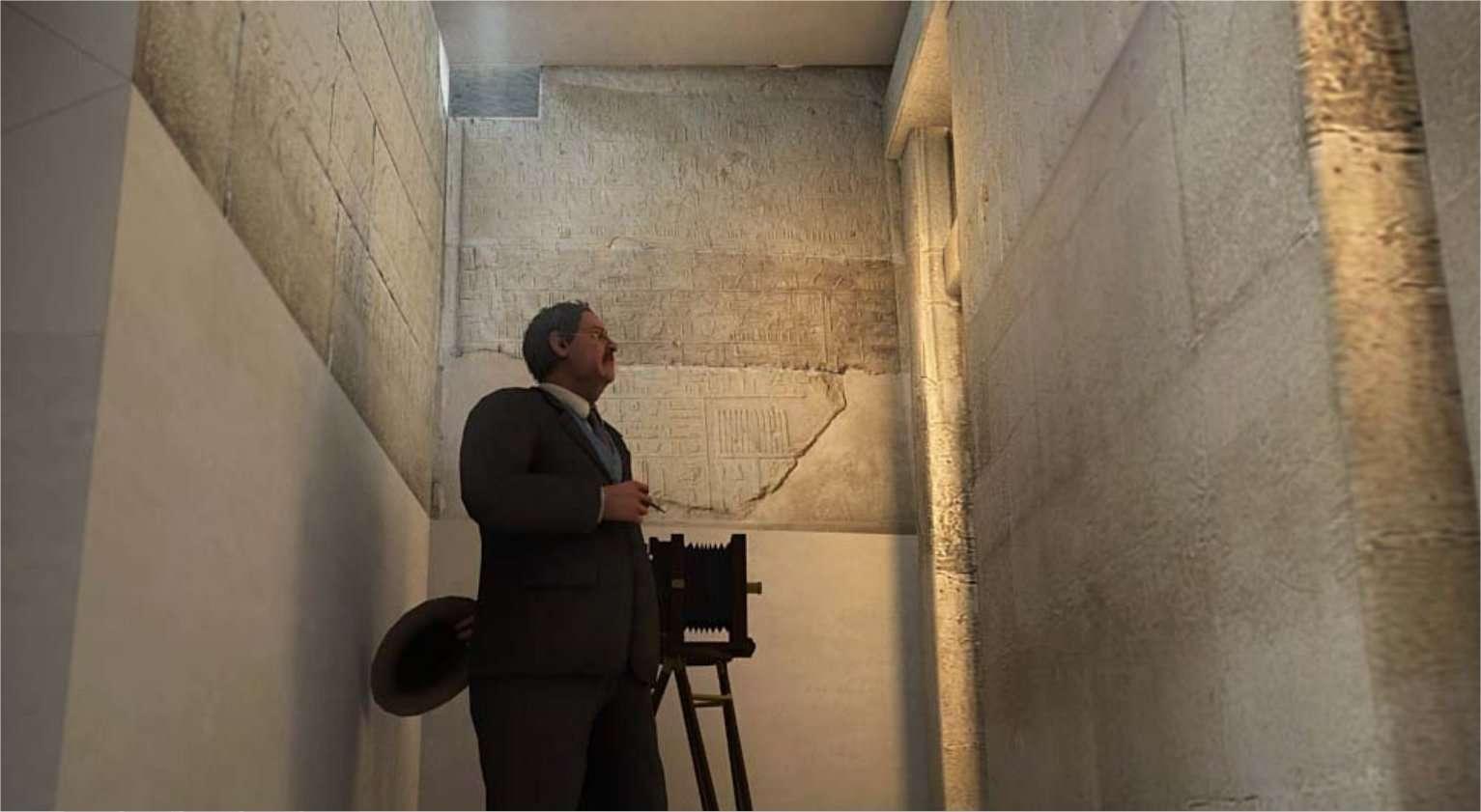 Sur Giza 3D, en suivant le guide, on entre dans les pyramides de Gizeh... © Dassault Systems/Museum of Fine Arts Boston