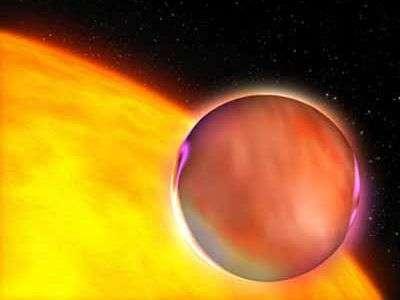 Une planète extrasolaire, comme se l'imaginent les astronomes. Crédit : Nasa