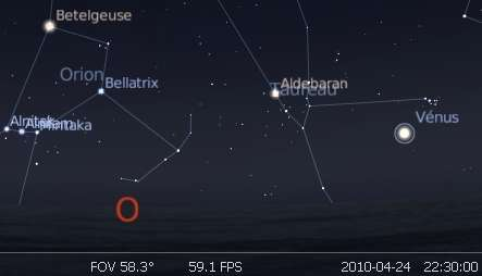 La planète Vénus est en rapprochement avec l'amas des Pléiades