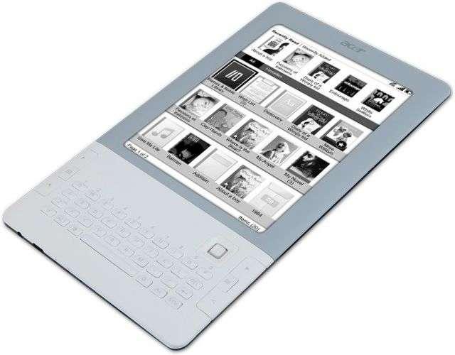 Un nouvel e-book, avec un clavier. © Acer