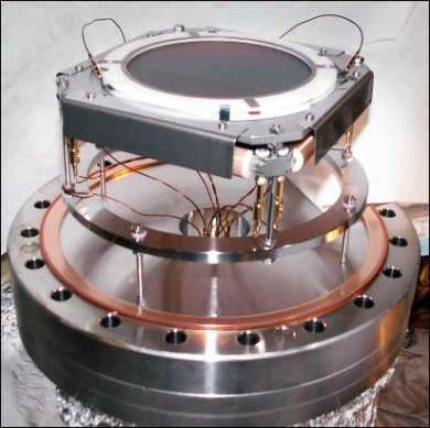 Détecteur utilisé pour observer l'effet HBT avec des fermions et des bosons dans un condensat d'Hélium de BE.