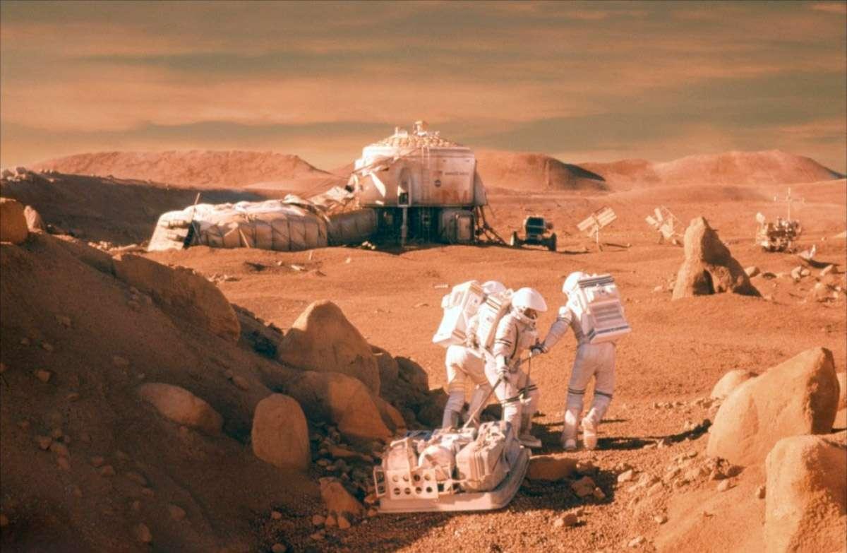 Un des nombreux concepts de la Nasa à l'étude pour l'exploration habitée de la planète Mars. Les agences spatiales comme le secteur privé ont la Planète rouge en ligne de mire pour de futures missions habitées. © Nasa