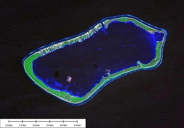 L'ensachage peut provoquer une inondation des bandes de terre d'un atoll par les eaux du lagon. © EVS-Islands CC by 2.0