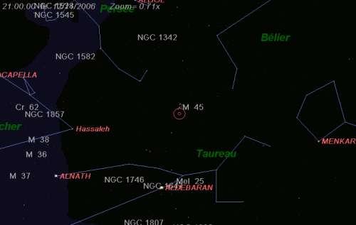 Maximum de l'essaim des météores des Taurides nord