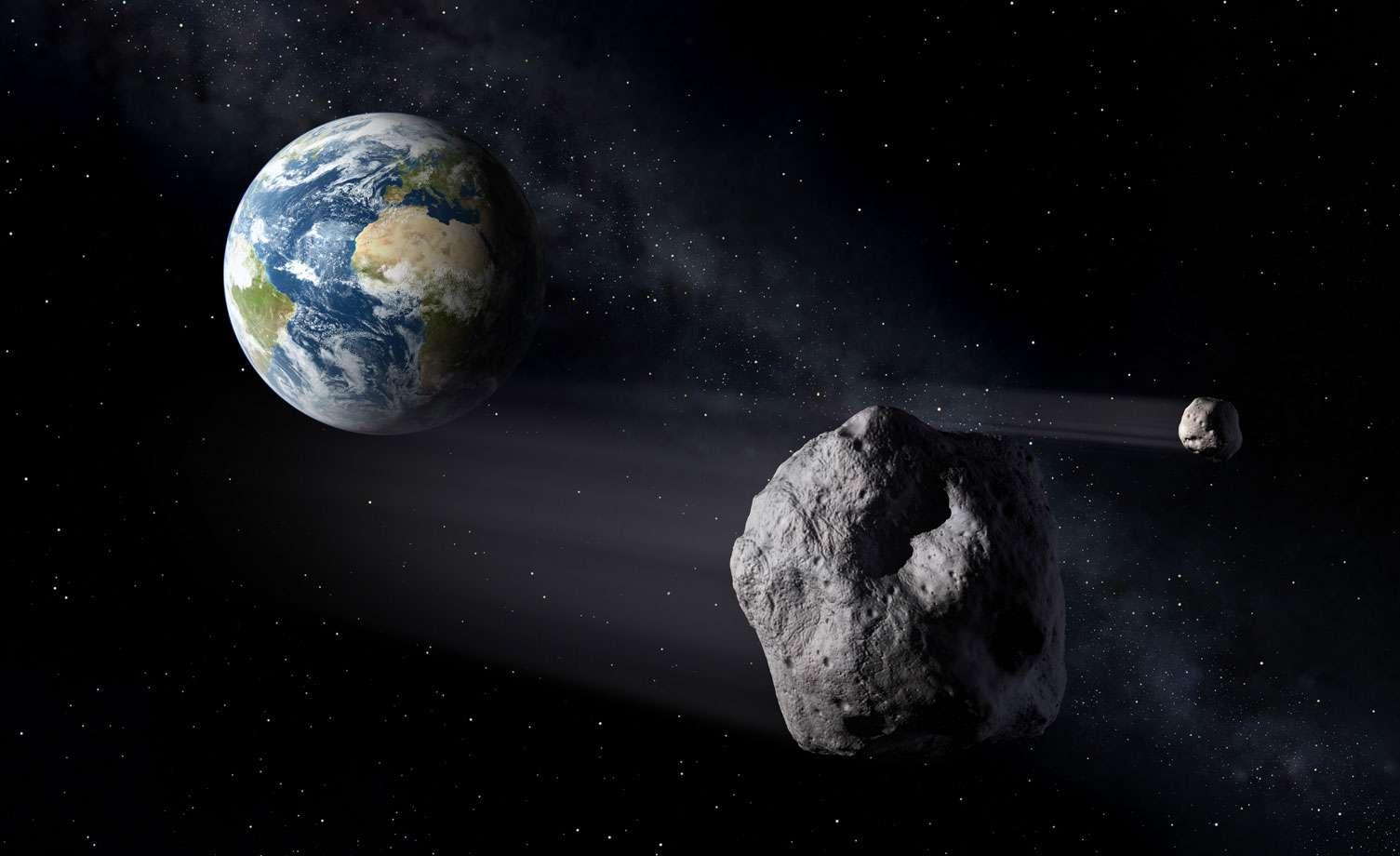 La déviation est la solution retenue pour protéger la Terre d'une collision avec un astéroïde. Bien qu'il existe d'autres solutions, celle-ci semble faire l'unanimité. © Esa, P. Carril