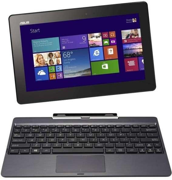 Asus a profité de l'annonce des nouveaux SoC Atom Z pour dévoiler l'un des tout premiers modèles à recevoir cette puce : le Transformer Book T100, un PC hybride dont le clavier se détache pour libérer une tablette 10,1 pouces. © Asus
