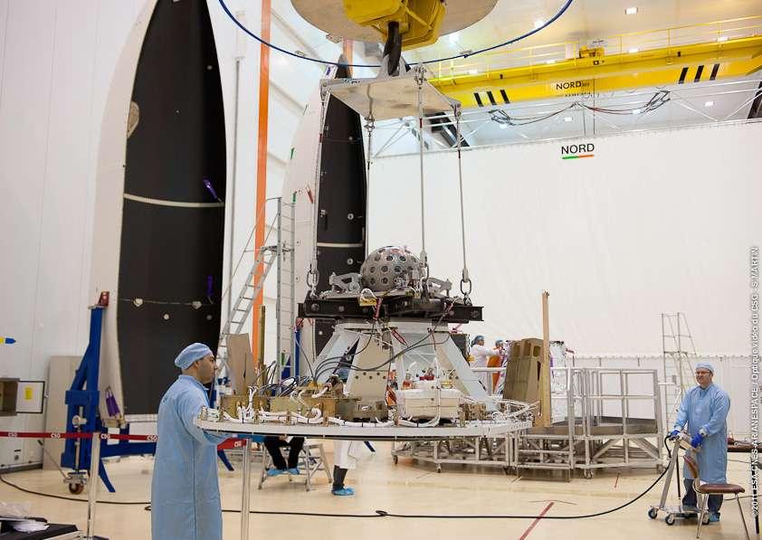 Une vue de Lares avant son lancement. © ESA, Cnes, Arianespace, Optique Video du CSG, S. Martin