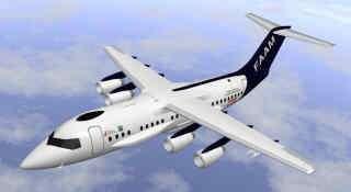 L'avion BAe 146, le plus récent utilisé par les services météorologiques britanniques Il devrait bientôt révéler la composition chimique précise du nuage de fumée(Crédits : MET/Crown)