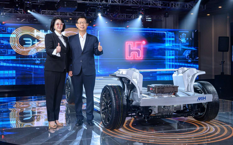 La plateforme MIH de Foxconn pour de futurs véhicules électriques. © Foxconn