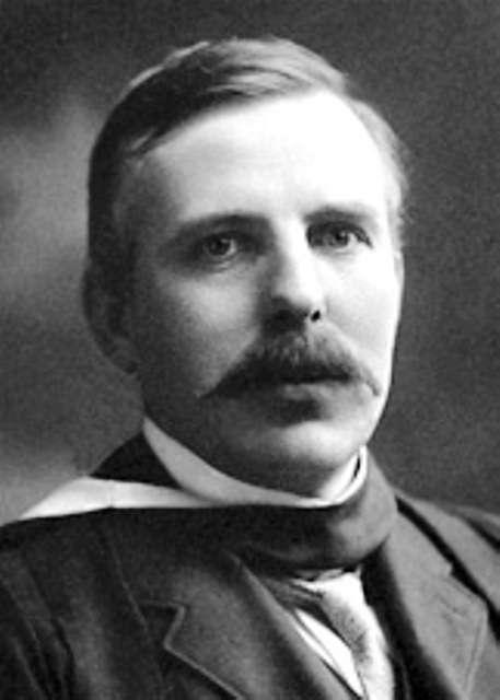 Rutherford a été le premier à étudier la réaction de fusion du bore avec l'hydrogène. © The Nobel Foundation