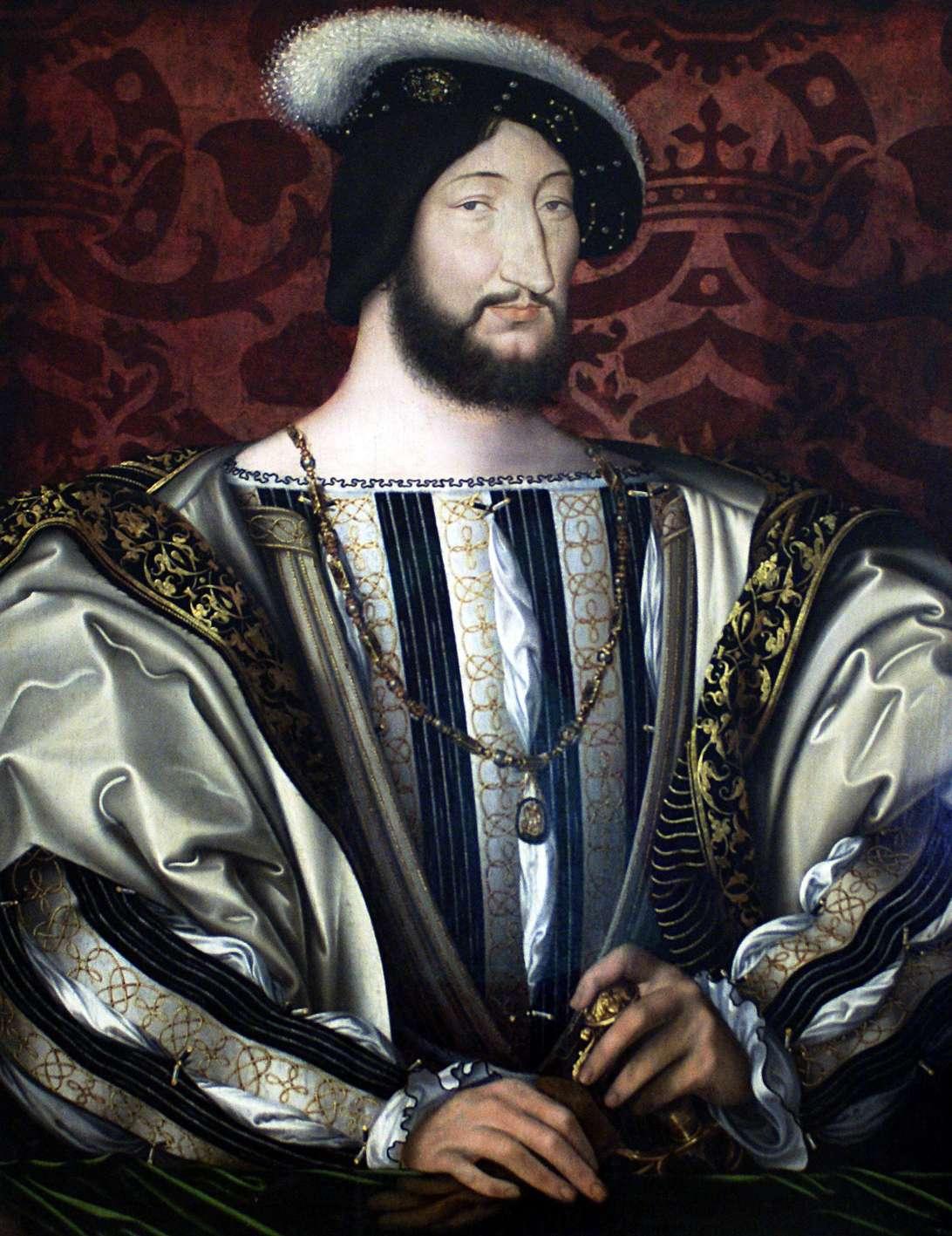 Portrait de François Ier. Sous son règne, il a favorisé le développement des arts et les lettres. © Jean Clouet, Wikimedia Commons, DP