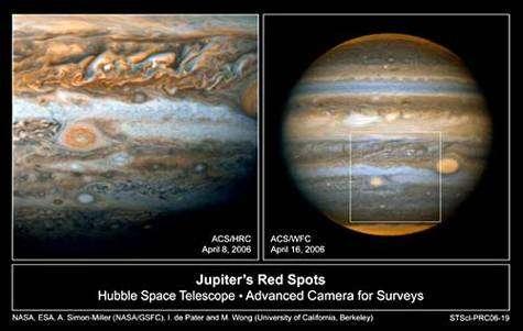 Tache Rouge Junior, ou Ovale OB, vue par Hubble en avril 2006