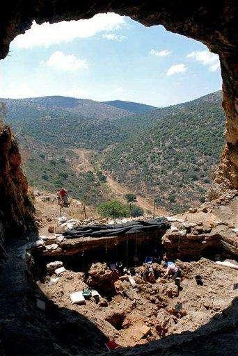 Le site natoufien de Hilazon Tachtit. Crédit : Hebrew University
