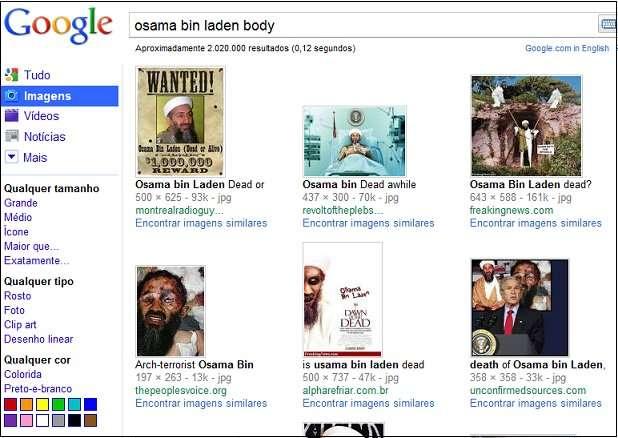 Les recherches sur la disparition de Ben Laden rassemblent beaucoup de monde et les informations récupérées (par exemple ici la photo truquée, en bas à gauche) sont à prendre avec circonspection. © SecureList.com