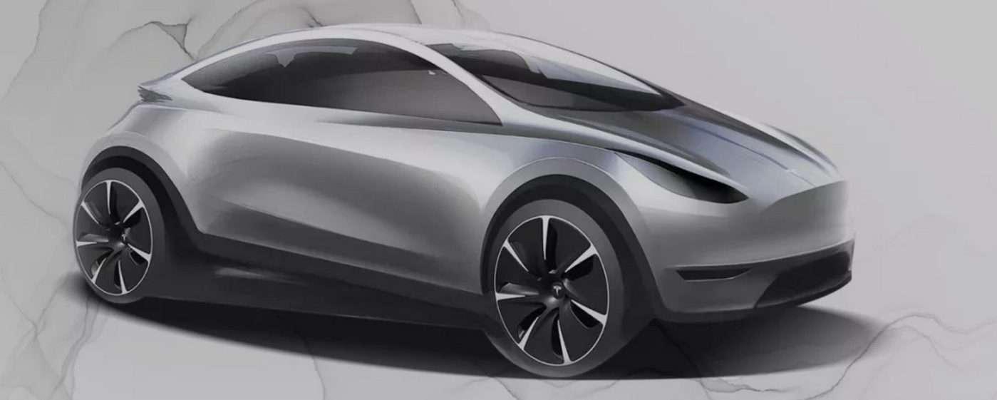 L'esquisse dévoilée par Elon Musk en janvier lors de sa visite à l'usine Gigafactory de Shanghai pour la livraison des premières Tesla Model 3 fabriquées en Chine. © Tesla
