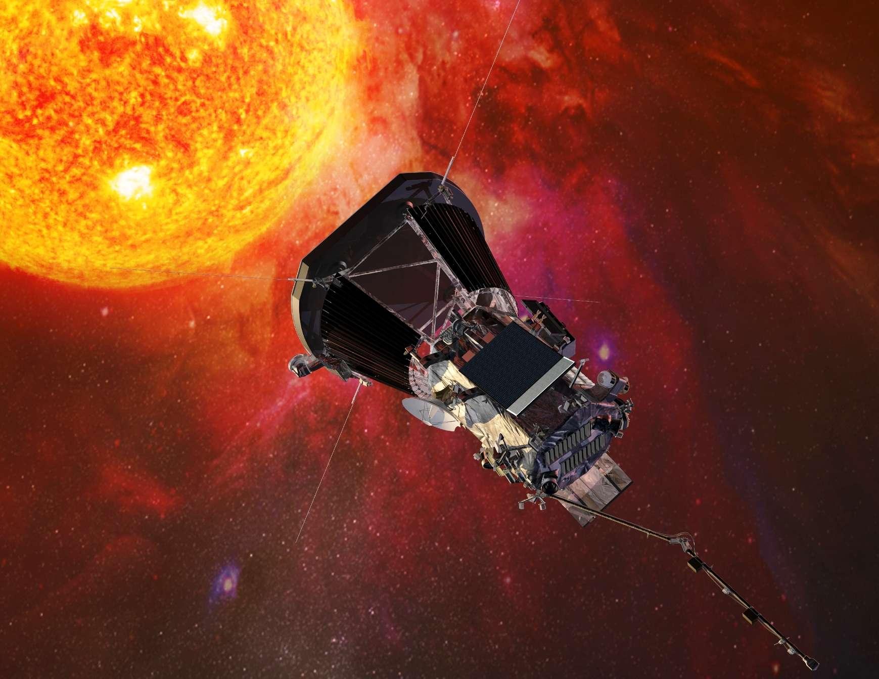 Parker Solar Probe envoie ses premières données récoltées lors de son approche du Soleil en novembre. © Johns Hopkins University Applied Physics Laboratory