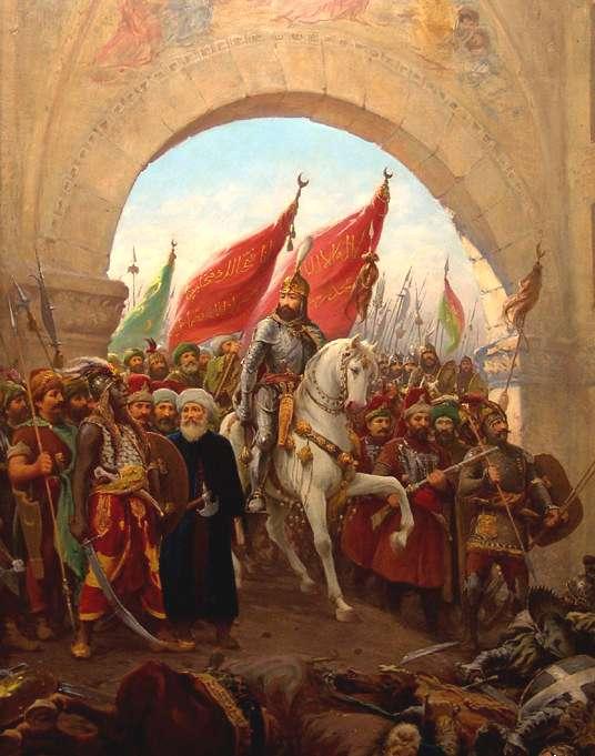 Mehmed II lors de la chute de Constantinople en 1453, fait majeur de l'histoire mondiale. © Fausto Zonaro, Wikimedia Commons, DP