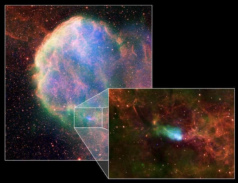 Rémanent de supernova observé par le satellite Chandra-X-ray. © Chandra X-ray / Nasa / CXC, B. Gaensler et al.