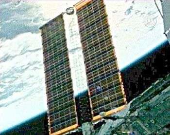 Déploiement du nouveau panneau solaire de l'ISS