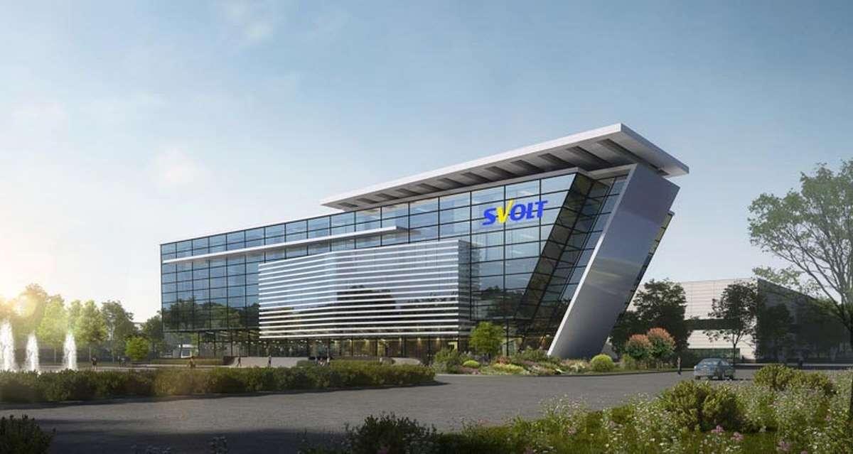 Un rendu de l'usine de production de cellules Lithium-ion que SVOLT va construire en Allemagne. © SVOLT