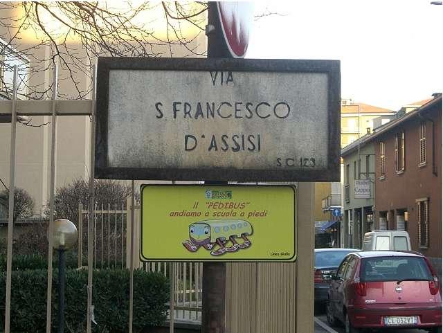 Arrêt de pédibus en Italie. © nilo_cram CC by-nc-sa 2.0