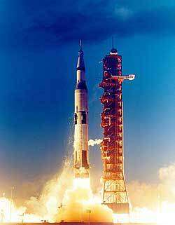 Les moteurs J2 équipait les 2ème et 3ème étage de la fusée Saturn V des missions Apollo