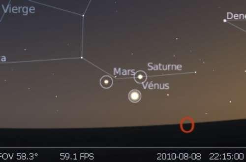 La planète Vénus est en rapprochement avec Saturne
