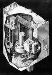 Vue en coupe du système de guidage actuellement utilisé à bord du télescope spatial, également conçu par Goodrich Corporation. Crédit NASA.