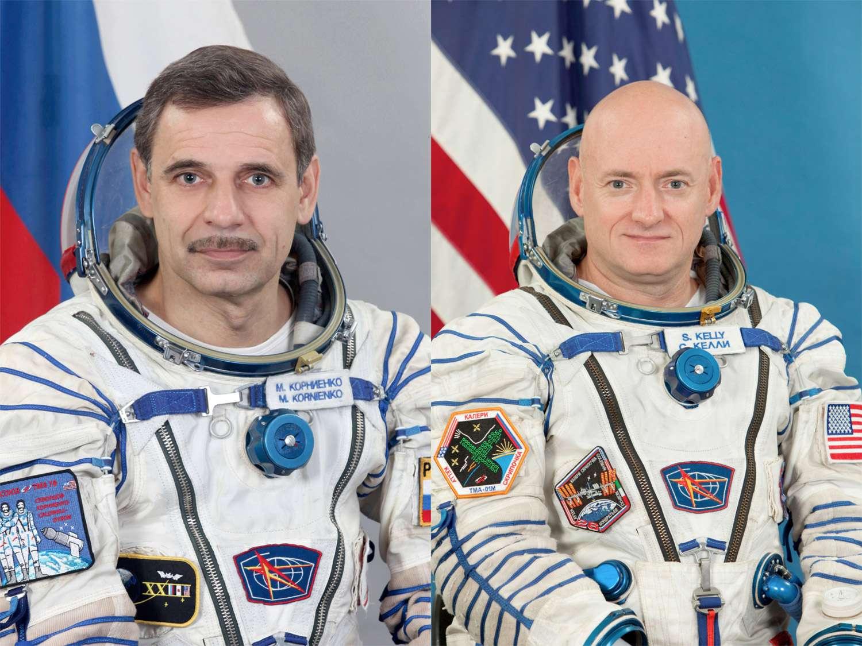 La Nasa et Roscosmos ont planifié la première mission de longue durée (un an) à bord de l'ISS. Elle a pour principal objectif une analyse approfondie des effets et des tendances à court et à long terme d'un tel séjour sur le corps humain. Actuellement, les rotations d'équipage se font environ tous les 6 mois. © Nasa