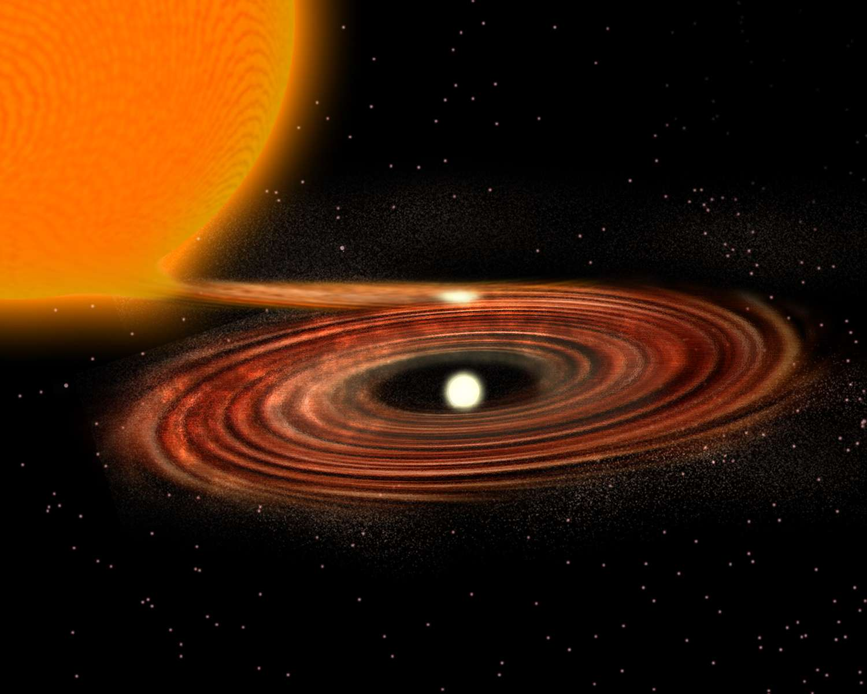 Une Géante Rouge Aurait Avalé Une étoile à Neutrons