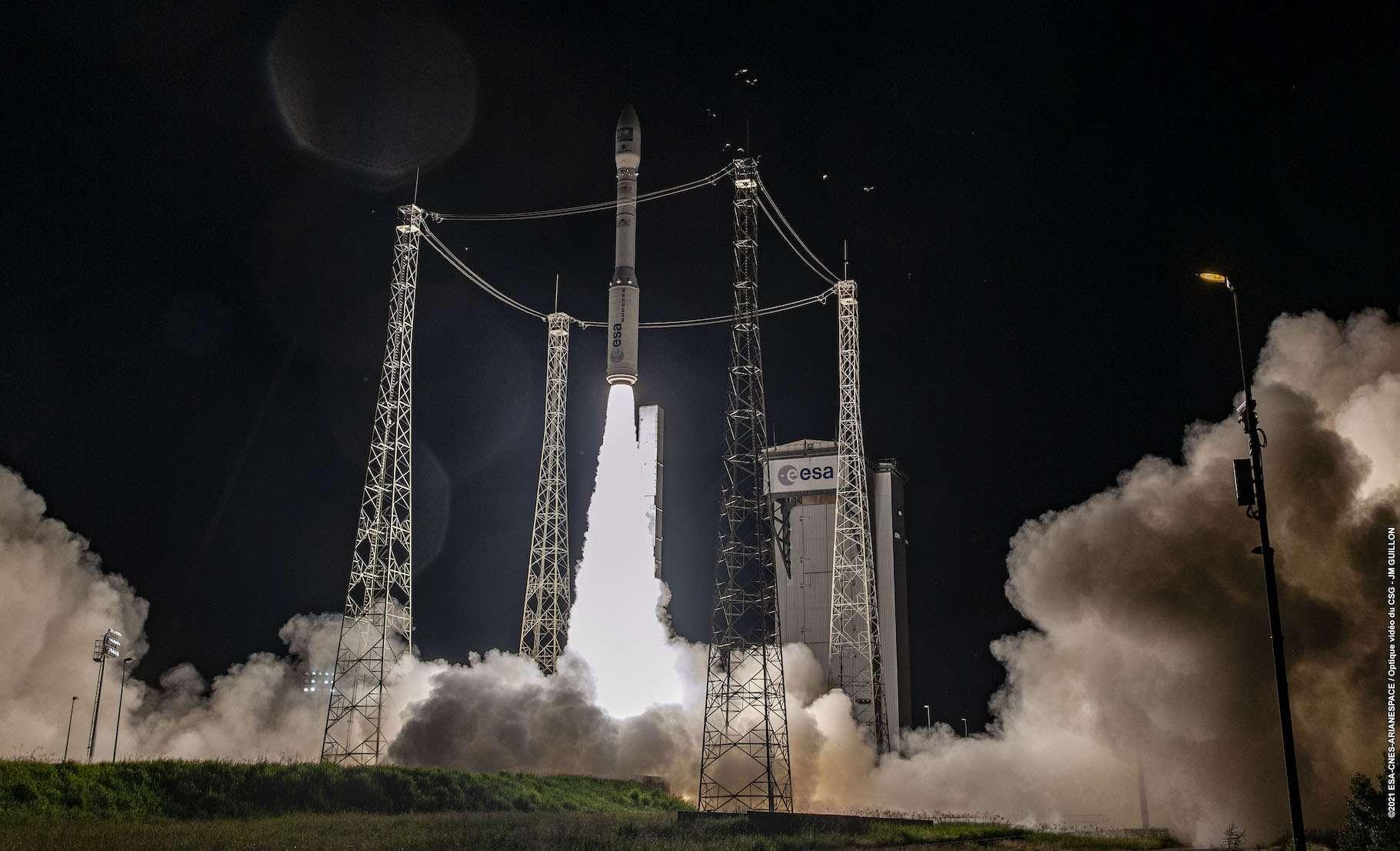 Ce lundi 16 août 2021, le lanceur Vega a mis sur orbite l'un des satellites de la constellation Pléiades Neo. © ESA, Cnes, Arianespace-JM Guillon