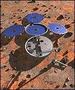 L'atterrisseur britannique Beagle 2 (crédit : ESA)