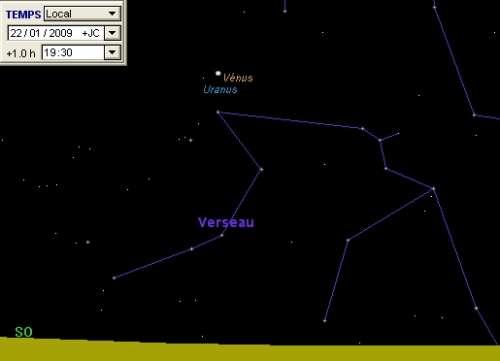 La planète Vénus est en rapprochement avec la planète Uranus